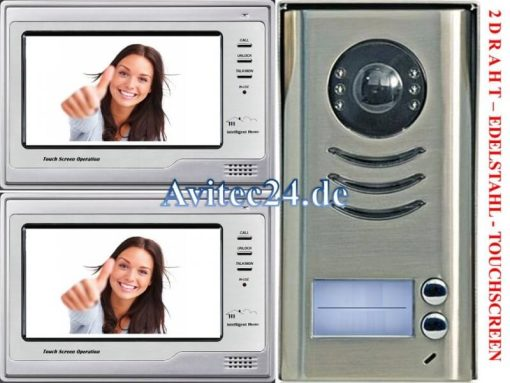 Video-Tuersprechanlage-2Draht-2Familien