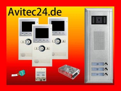 TÜRSPRECHANLAGE-3xDT16-SONY-CCD