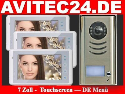 Video-Tuersprechanlage-Touchscreen