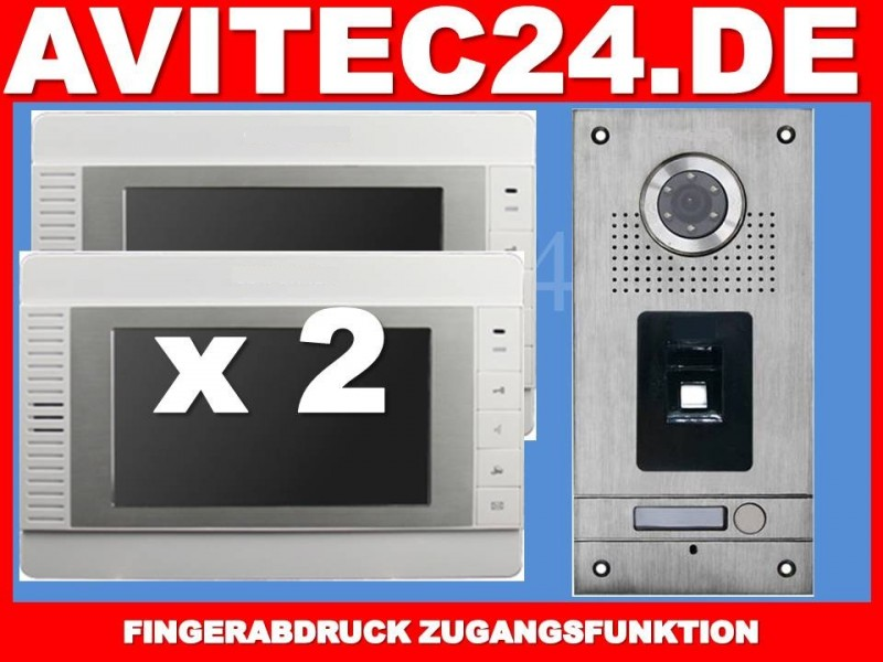 FINGERPRINT VIDEO TÜRSPRECHANLAGE VT56 + 2x VT32
