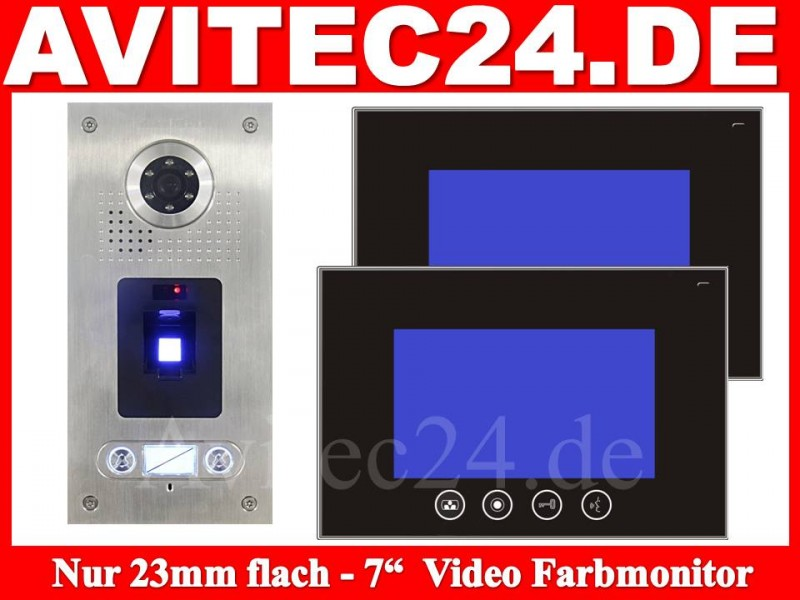 video t rsprechanlage fingerprint 2 familienhaus zweifamilienhaus avitec. Black Bedroom Furniture Sets. Home Design Ideas