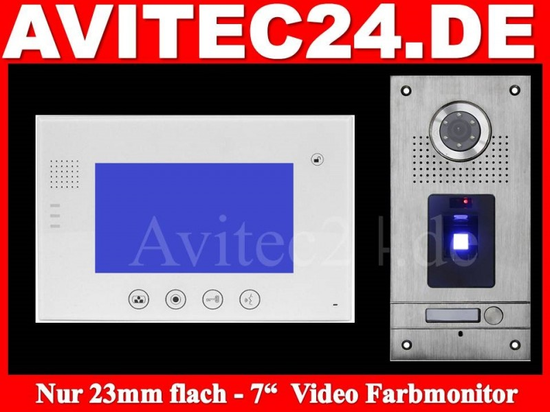 video t rsprechanlage fingerprint vt56 vt670w touchscreen avitec. Black Bedroom Furniture Sets. Home Design Ideas
