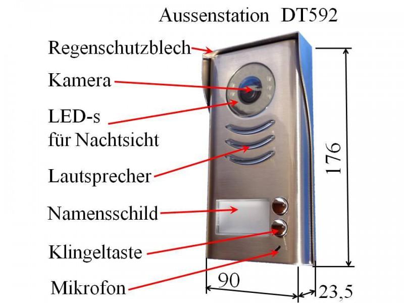 DT592+2xDT16 Video Türsprechanlage Gegensprechanlage ...