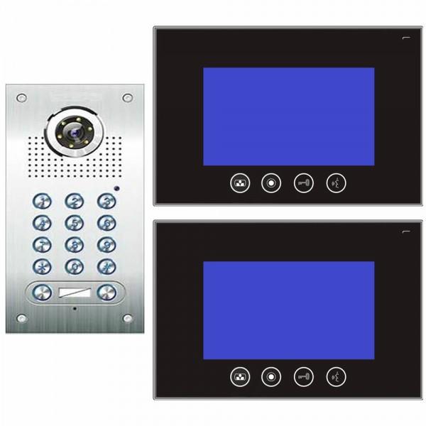 Video Türsprechanlage 2-Familienhaus 4-Draht mit Codeschlossfunktion ...