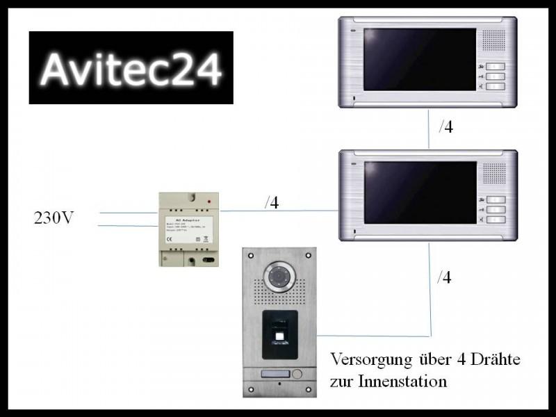 Video Türsprechanlage 4-Draht VT35 + 3x VT670 aus Edelstahl mit ...
